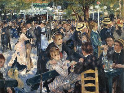 Bal Du Moulin De La Galette Print by Pierre-Auguste Renoir