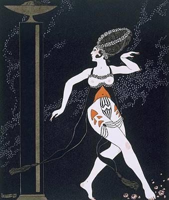 Ballet Scene With Tamara Karsavina Print by Georges Barbier