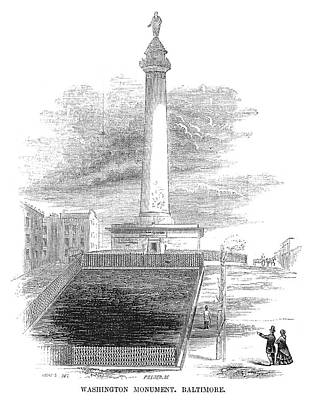 Washington Monument Painting - Baltimore Monument, 1853 by Granger
