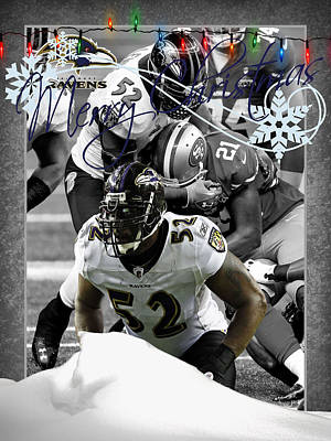 Baltimore Photograph - Baltimore Ravens Christmas Card by Joe Hamilton