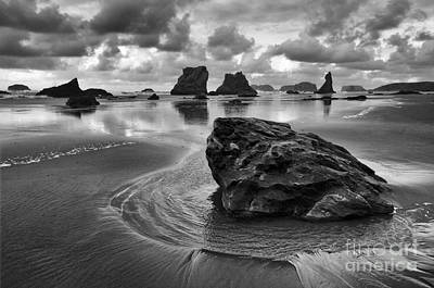 The Beauty Of Nature Photograph - Bandon By The Sea Monochrome 1 by Bob Christopher