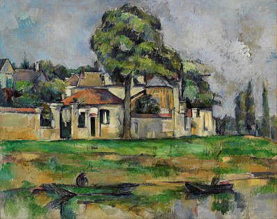 Field. Cloud Painting - Banks Of The Marne by Paul Cezanne