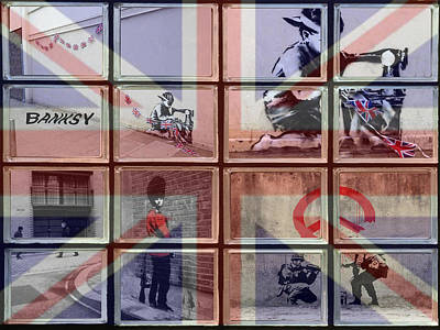 Union Jack Photograph - Banksy Street Art by David French
