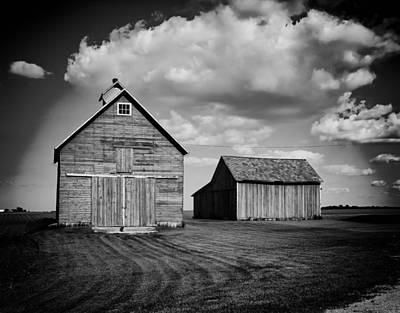 Barns In Illinois Print by Mountain Dreams