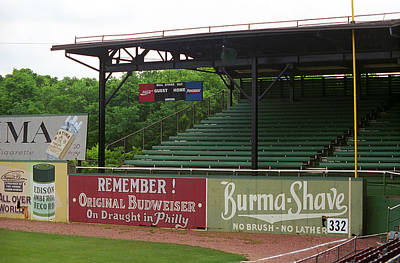Baseball Field Burma Shave Sign Print by Frank Romeo