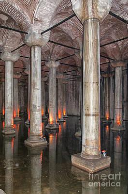 Basilica Cistern 02 Print by Antony McAulay