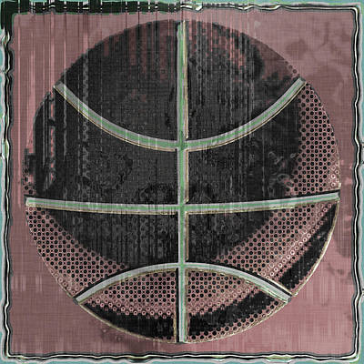Basketball Digital Art - Basketball Abstract by David G Paul