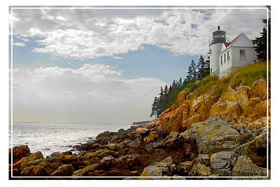 Atlantic Digital Art - Bass Harbor Head Lighthouse by Mike McGlothlen