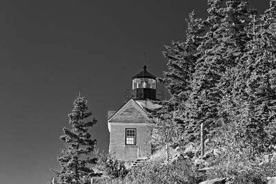Desert Island Digital Art - Bass Harbor Lighthouse Mount Desert Island Maine by Keith Webber Jr