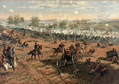 Bayonet Digital Art - Battle Of Gettysburg by Thure de Thulstrup