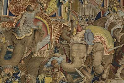 Tapestries Textiles Photograph - Battle Of Zama. 16th C. Spain. Madrid by Everett