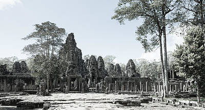 Trees Photograph - Bayon Temple by Alexey Stiop