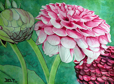 Artist Christine Belt Painting - Be Still And Know That I Am God by Christine Belt