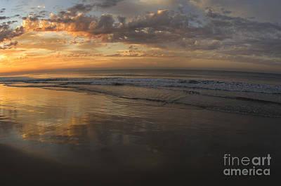 Beach At Sunrise Print by Ron Sanford