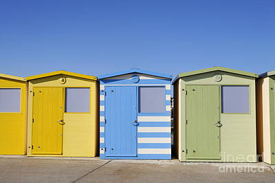 Beach Huts At Seaford In East Sussex In England Print by Robert Preston