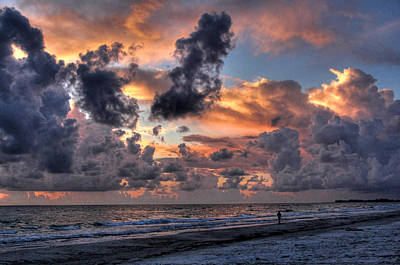 Sunsets Photograph - Beach Walk - Florida Seascape by HH Photography of Florida