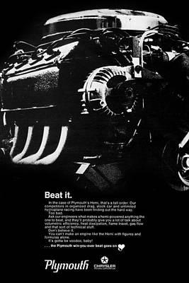 Beat It Print by Digital Repro Depot