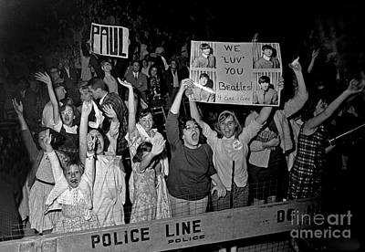 Ringo Starr Photograph - Beatles Fans At Concert, 1964 by Larry Mulvehill