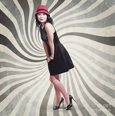 Beautiful Asian Woman Posing. Vintage Style Print by Jorgo Photography - Wall Art Gallery
