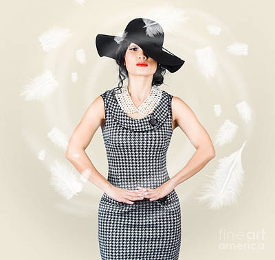 Studio Art Jewelry Photograph - Beautiful Girl Enjoying Summer In Sun Hat by Jorgo Photography - Wall Art Gallery