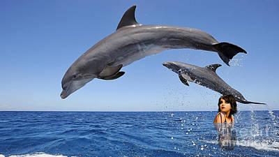 Dolphin Mixed Media - Beauty by Marvin Blaine