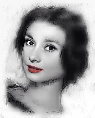 Audrey Hepburn Mixed Media - Beauty Of The Century by Steve K