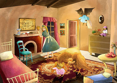 Baba Painting - Bedtime With Polly by Reynold Jay