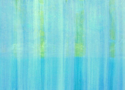Of Cool Colors Painting - Behind The Waterfall by Karyn Robinson