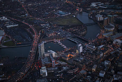 Photograph - Belfast At Night, Northern Ireland by Colin Bailie