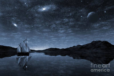 Water Vessels Painting - Beneath A Jewelled Sky by John Edwards