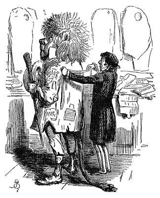 Benjamin Disraeli Cartoon Print by Granger