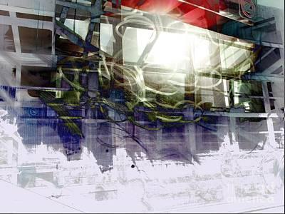 Berlin Digital Art - Berlin S Bahn Travails by Aruna Samivelu