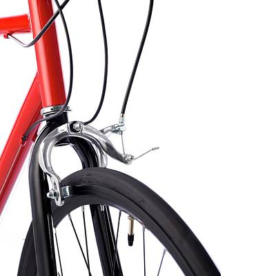 Up-cycling Photograph - Bicycle Brakes by Science Photo Library