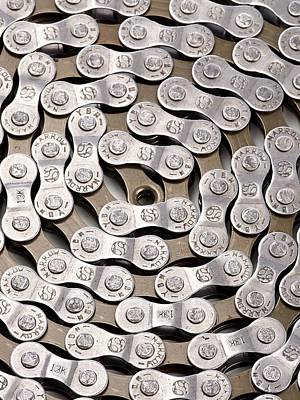 Up-cycling Photograph - Bicycle Chain by Science Photo Library