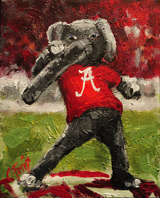 Alabama Painting - Big Al by Carole Foret