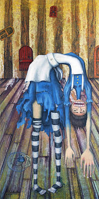 Drip Painting - Big Alice Little Door by Kelly Jade King