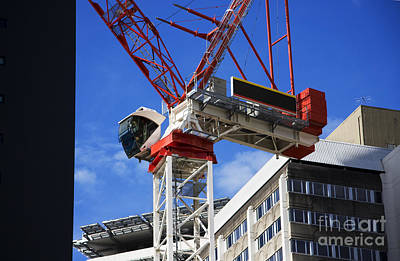 Crane Photograph - Big Red Crane by Jorgo Photography - Wall Art Gallery
