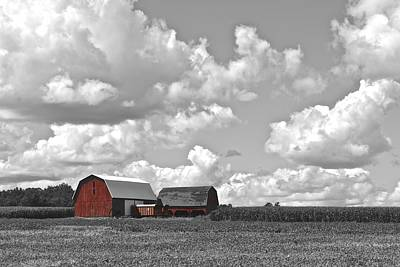 Farm Stand Photograph - Big Sky by Frozen in Time Fine Art Photography