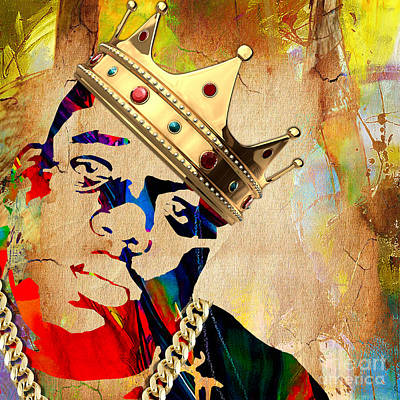 Biggie Mixed Media - Biggie Collection by Marvin Blaine