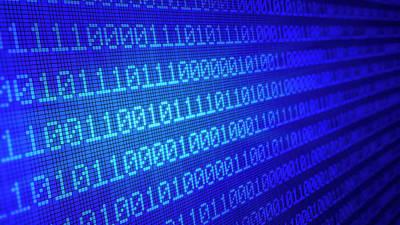 Binary Code Print by Andrzej Wojcicki
