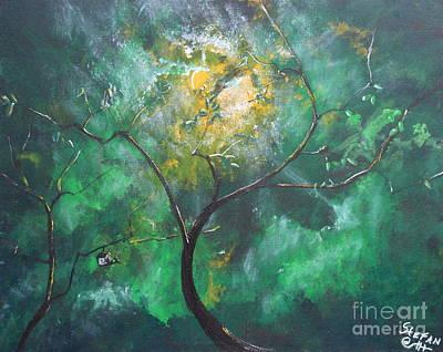 Tree Painting - Bird Angel by Stefan Duncan