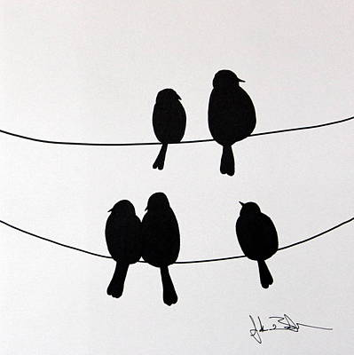Birds On A Wire Print by Jacob Bentzinger
