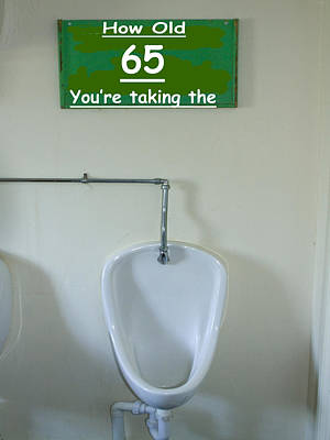 Urinal Photograph - Birthday Cards by David French