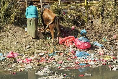 Slums Photograph - Bishnumati River by Ashley Cooper