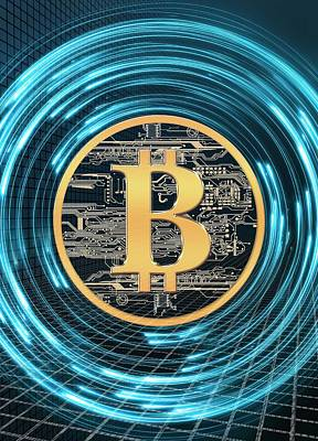 Circuit Photograph - Bitcoin by Victor Habbick Visions