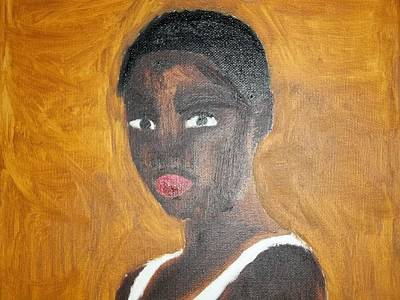 Black African American Woman Of 2013 Print by William Sahir House