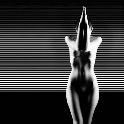 Black And White Artistic Nude Print by Dan Comaniciu