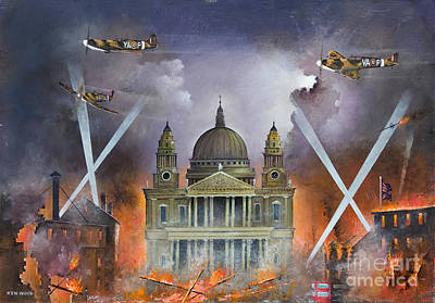 Ww11 Aircraft Painting - Spirit Of The Blitz by Ken Wood