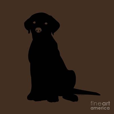 Black Labrador Print by Elizabeth Harshman