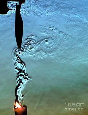 Fluid Mechanics Photograph - Blade Tip Vortices Of Electric Fan by Gary S. Settles & Jason Listak